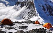 珠峰海拔7790米的二号营地