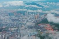 广西三江:云雾缭绕侗城美