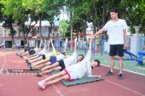 百色少儿运动员冒酷暑备战广西少儿田径锦标赛