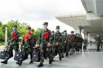 高清:軍營添新綠 武警廣西總隊喜迎首批新戰友入營