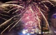 曼谷絢麗焰火迎新年