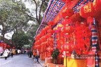 春节临近南宁年货市场热闹非凡 购物不忘防疫安全