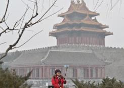 北京迎降雪