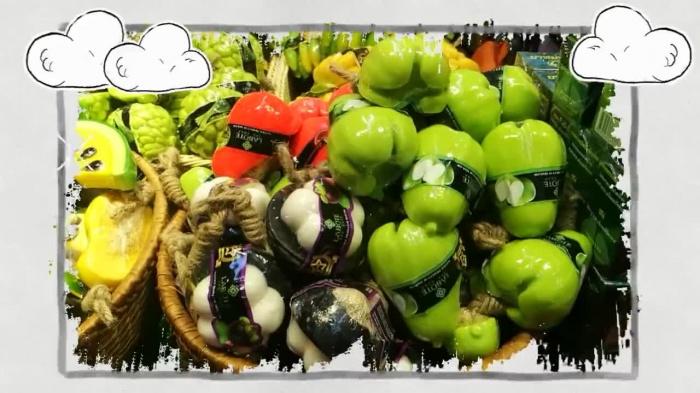 泰国馆:五彩缤纷的水果香皂 你心动了吗?