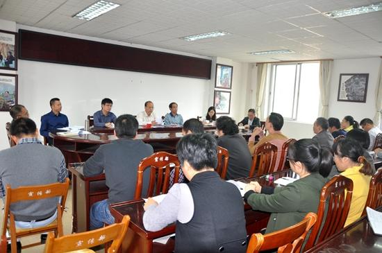 宾阳县委宣传部组织学习党的十八届六中全会精神