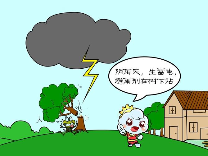 广西气象防灾减灾漫画-雷电篇