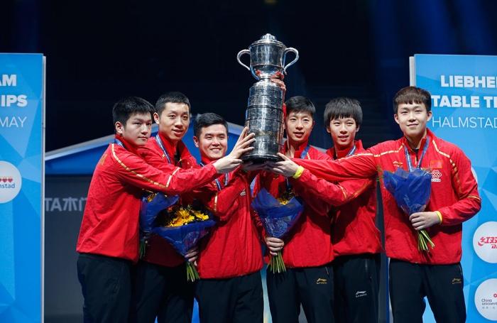 中国队第9次捧起斯韦思林杯