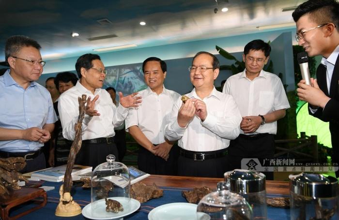 鹿心社陈武率广西党政代表团赴海南学习考察