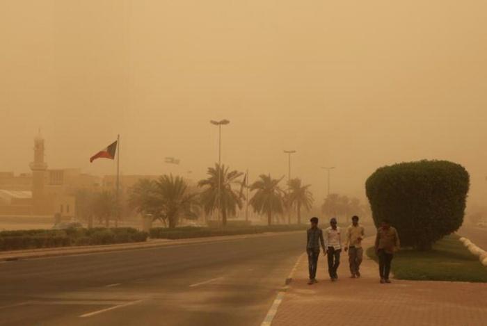 沙尘暴袭击科威特