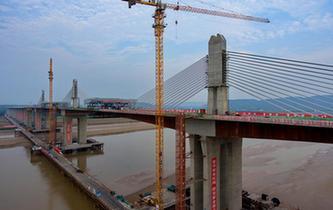 运宝高速黄河大桥成功合龙
