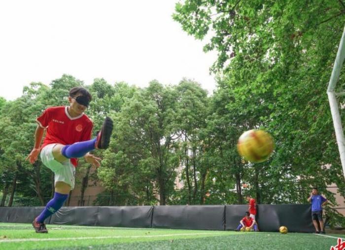 盲人足球队暑期训练