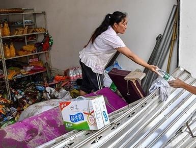 洪水过后的北川村庄