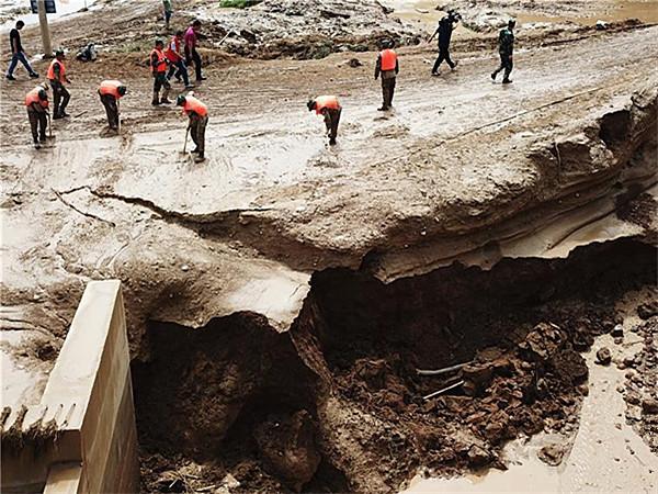 甘肃省遭受暴雨灾害