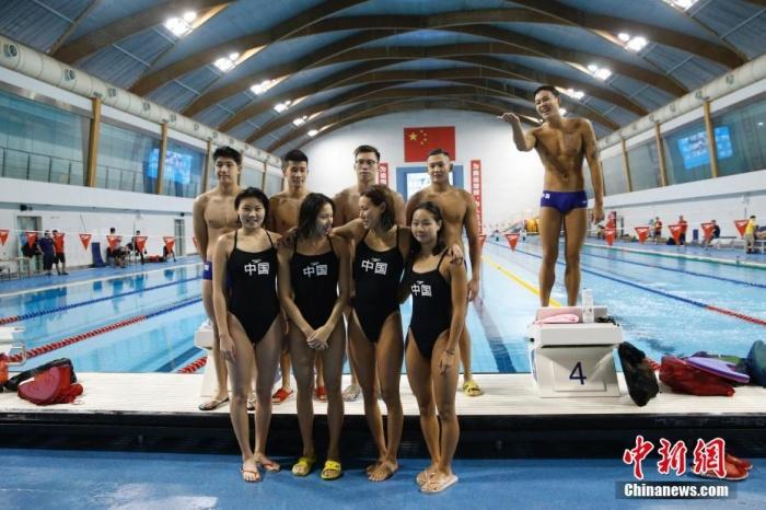 国家游泳队举行公开训练课