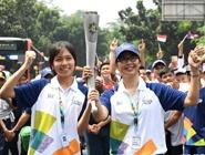 亚运会火炬传递在雅加达举行