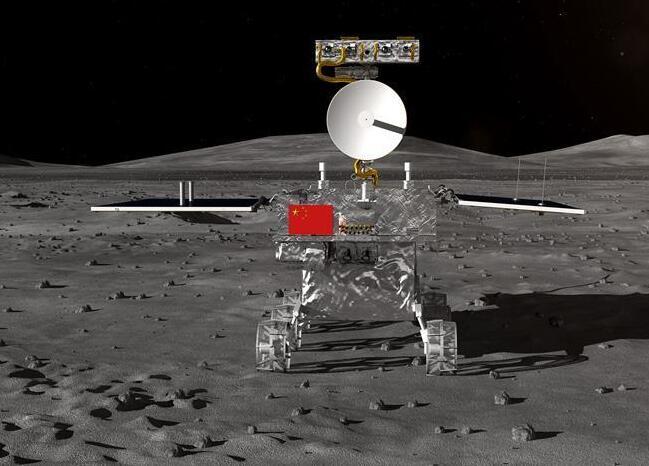 嫦娥四号着陆器和月球车