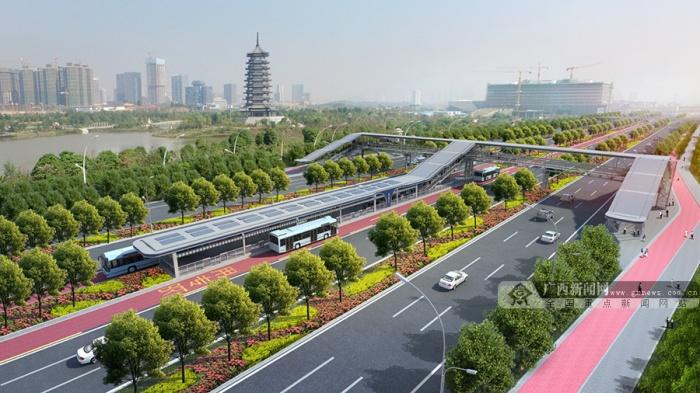 南宁园博园配套项目BRT2号线年内投入试运营(图)