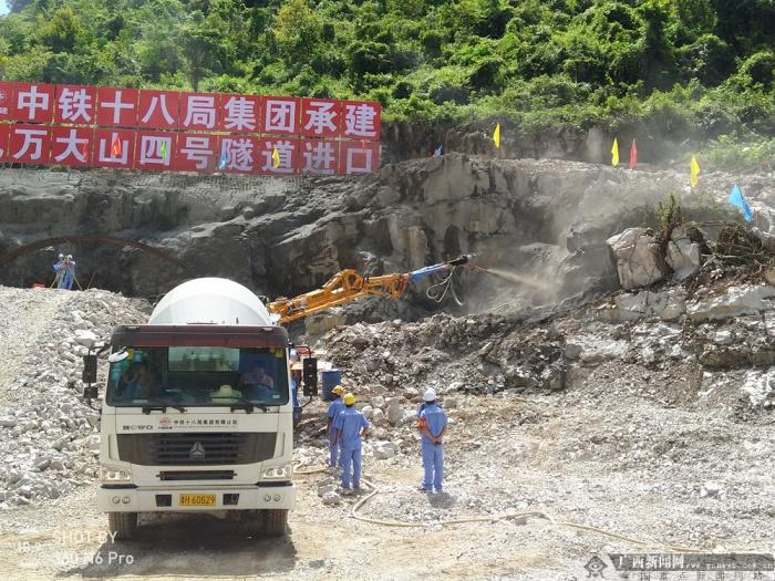 高清组图:贵南高铁广西段最长隧道全面开工