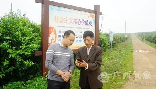 """广西气象减灾研究所""""农气通""""APP进村入户"""