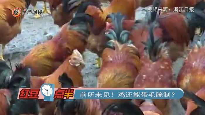 前所未见!鸡还能带毛腌制?