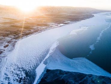 冬日青海湖