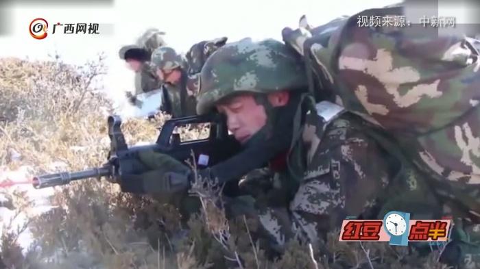 超燃!青海武警迎来新年首次野营拉练