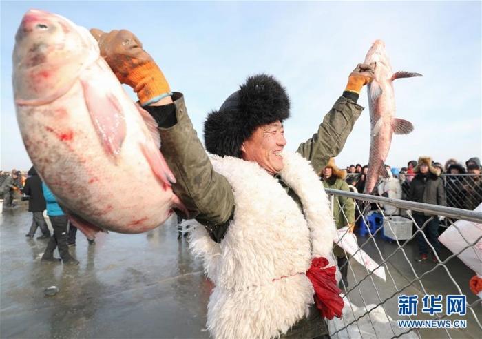 辽宁康平举行冬捕节