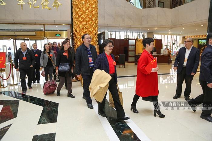肩负全区各族人民期望 广西代表团抵京(图)