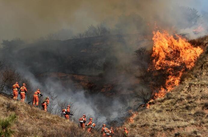 """山西沁源""""3·29""""森林火灾蔓延势头初步得到遏制"""