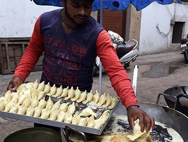 印度街邊炸貨攤