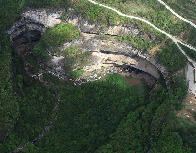 走近宁强地洞河天坑