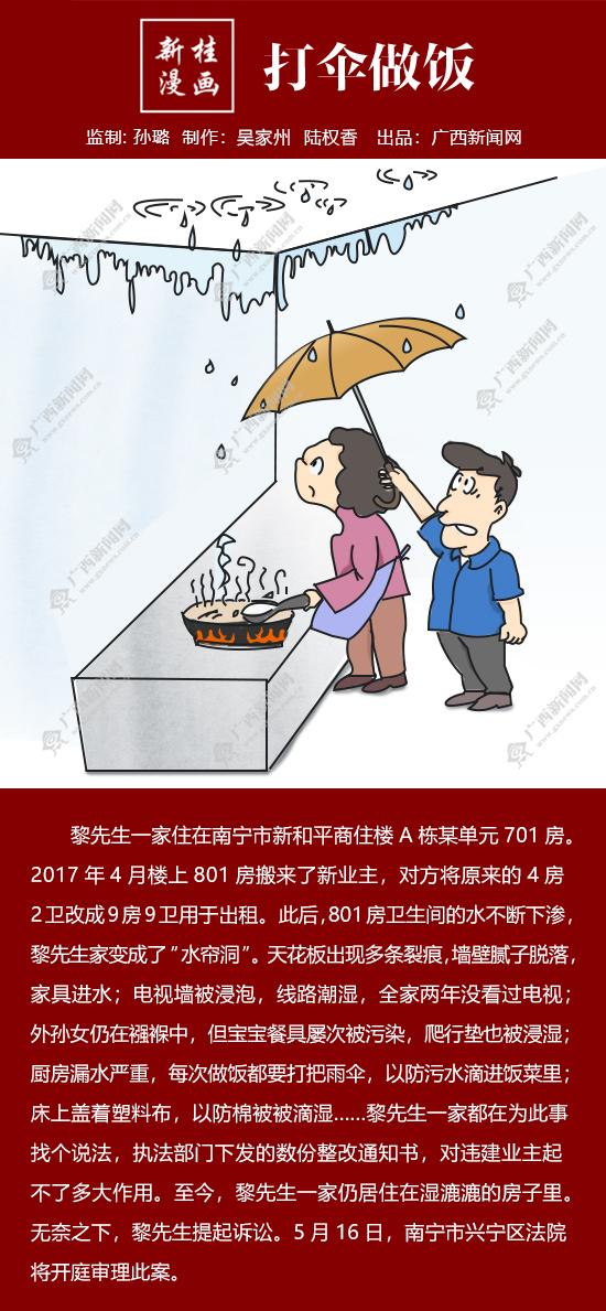 【新桂漫畫】打傘做飯