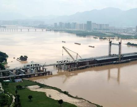 闽江福州段水位高涨