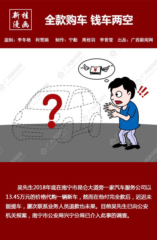 【新桂漫畫】全款購車 錢車兩空