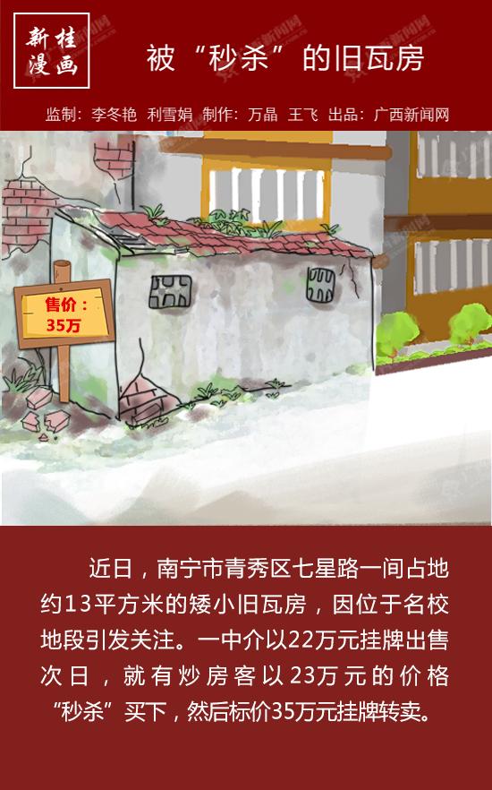 """【新桂漫畫】被""""秒殺""""的舊瓦房"""