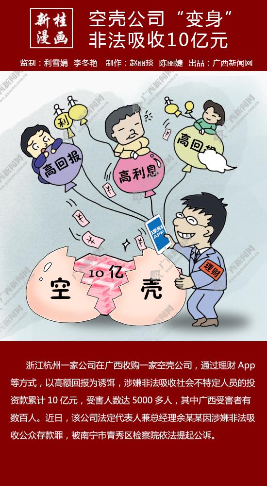 """【新桂漫画】空壳公司""""变身""""非法吸收10亿元"""