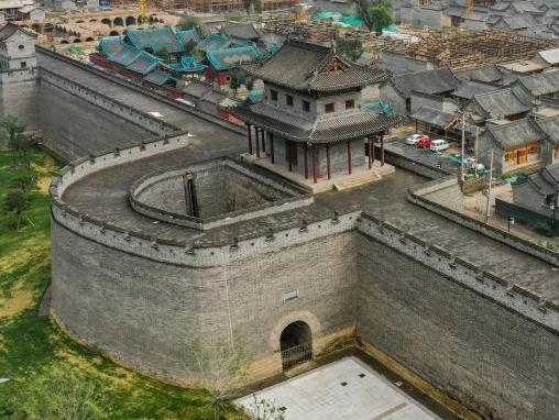 航拍在建太原古县城