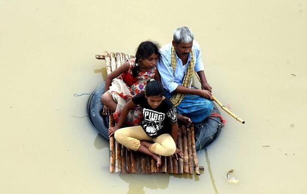 洪灾造成印度42人丧生
