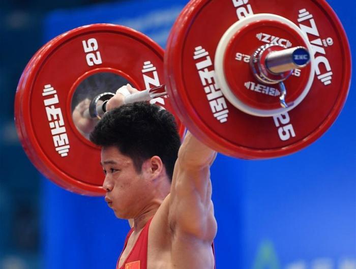 李发彬获举重世界杯男子61公斤级冠军