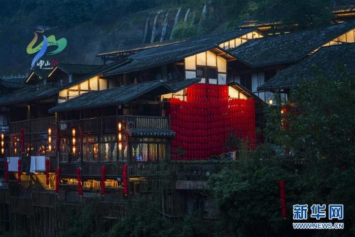 重庆江津:古镇亮灯迎新春