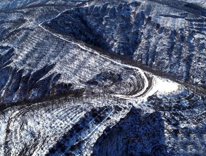 黄土高原 雪后银装