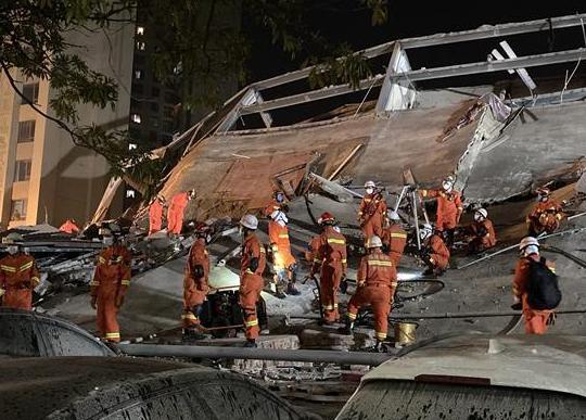 福建泉州一酒店楼体坍塌 已救出43人