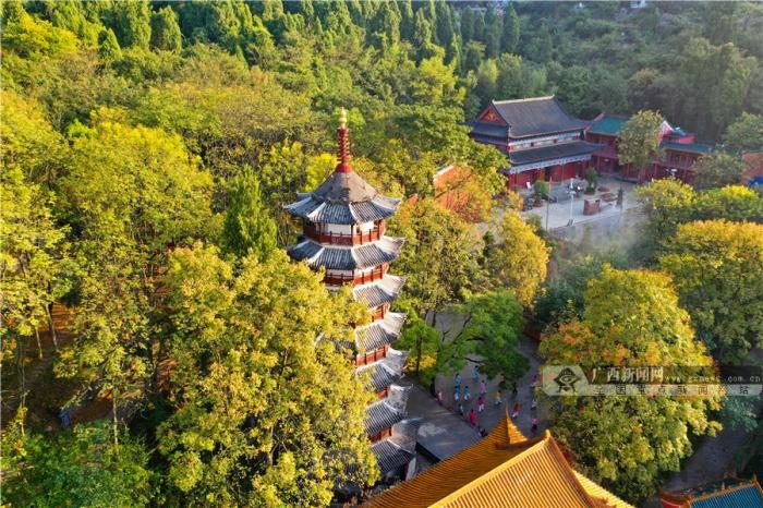 桂林全州:湘山寺景区迎来最美秋色(图)