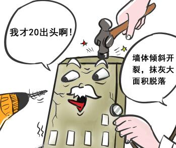 [新桂漫画]20年以上楼房将全面体检