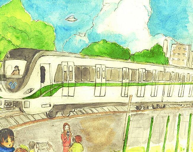 手绘漫画:南宁地铁一号线成长记