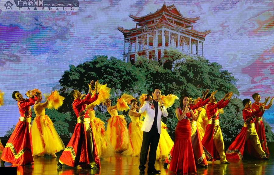 广西大型3D全息投影歌舞秀《寻梦・刘三姐》开演