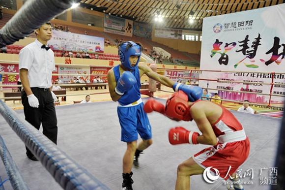 2017年广西青少年拳击锦标赛在田阳县激情开赛