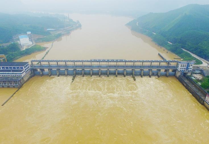 航拍:融江浮石水电站汛期调水防洪