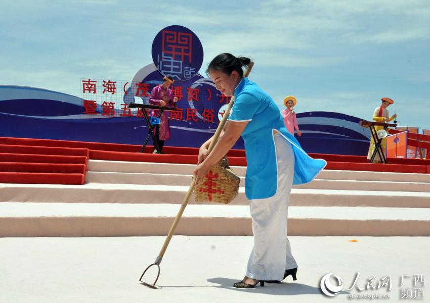 广西京族民俗文化惊艳南海开渔节