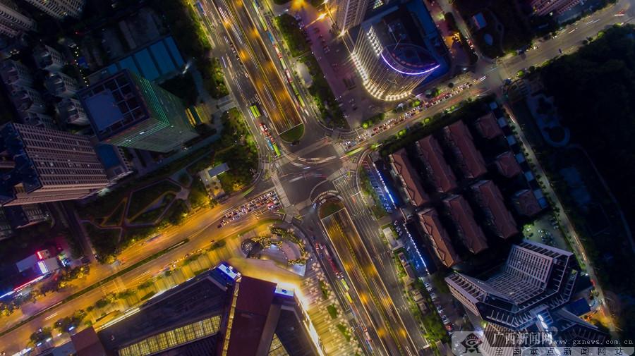 夜幕下的邕城